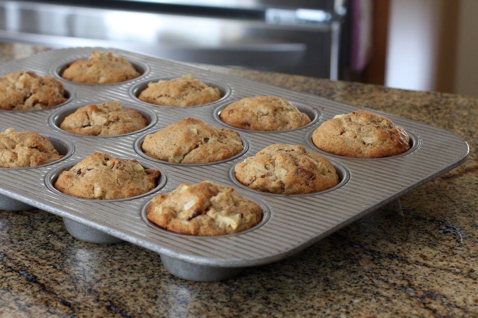 Apple Nut Muffins With Cinnamon Sugar Topping Recipe