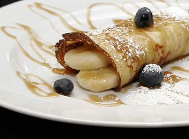 Banana Crepes With Brown Sugar Rum Sauce Recipe