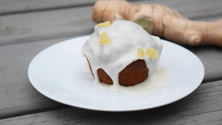 Gingerbread Muffins With Maple Glaze