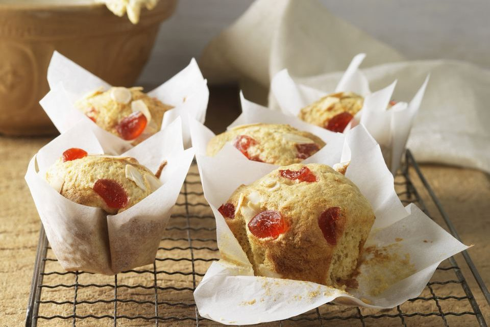 Healthy Cherry Oatmeal Muffins Recipe
