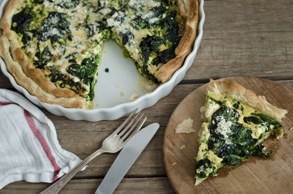 Low-Calorie Spinach Quiche Recipe