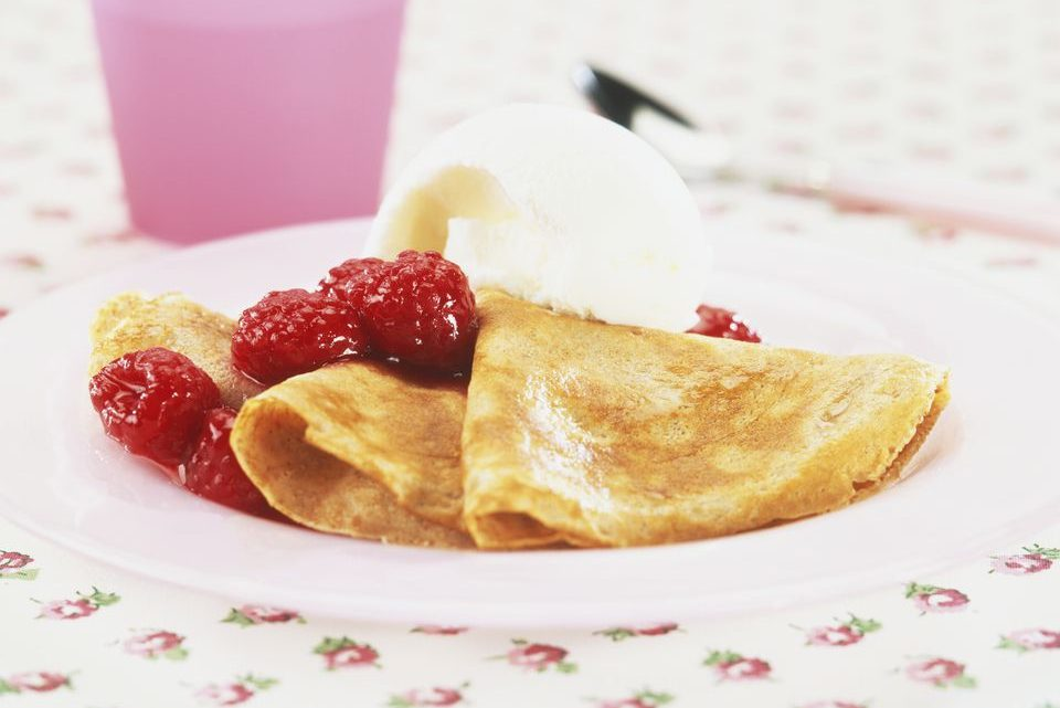 Gluten-Free Crepes With Raspberry Sauce Recipe