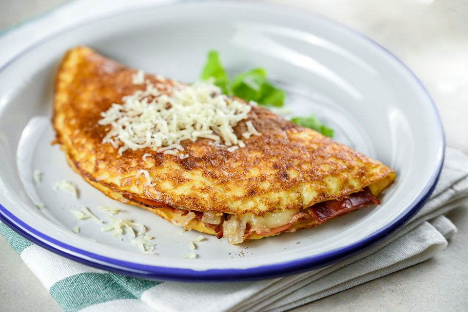 Low-Calorie Bacon Omelet Recipe