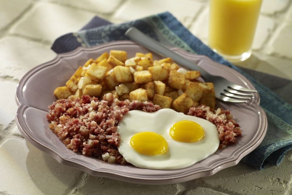 Corned Beef Hash With Eggs - Recipe