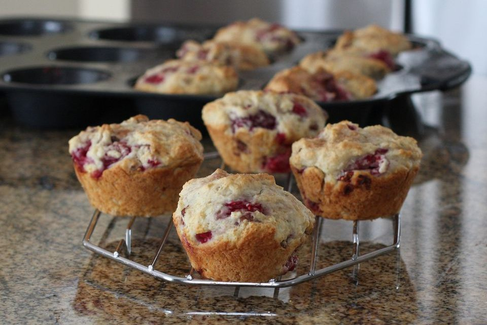 Raspberry Muffins With Pecans Recipe