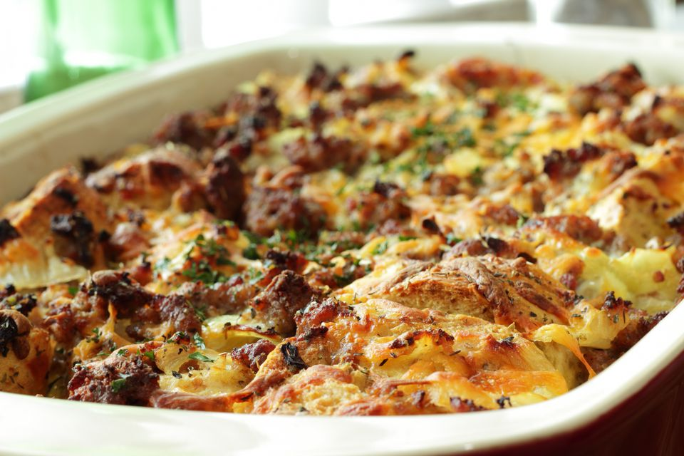 Corned Beef and Spinach Strata Recipe
