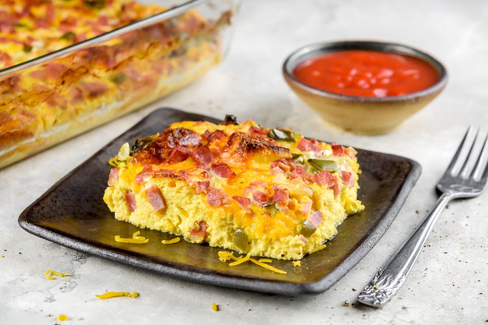 Western Ham and Egg Casserole Recipe