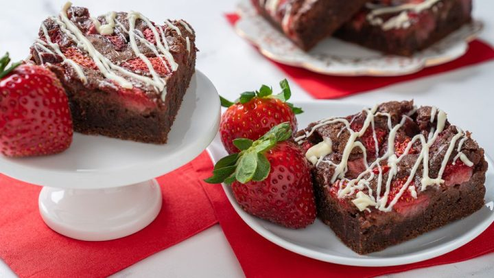 Brownies de fresa